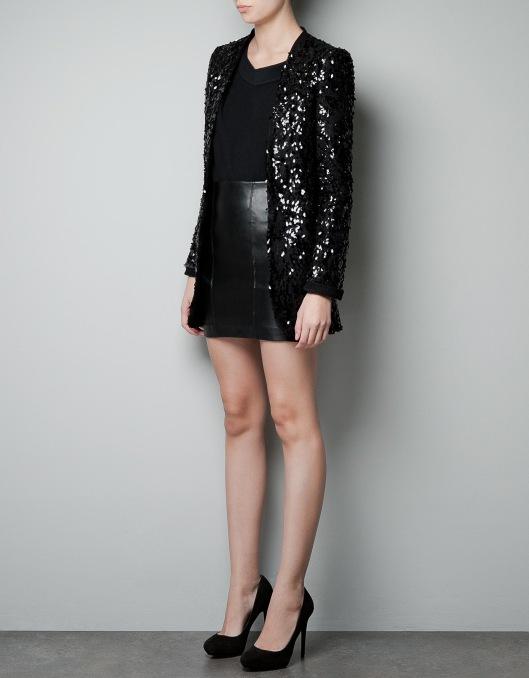 Black Sequins Jacket