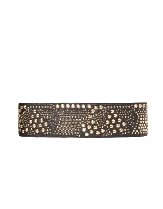 Studded Wide Belt