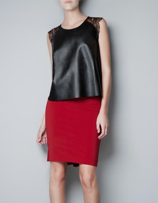 zara leather