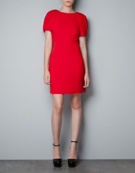 Red Dress of course! It is beautiful matched with some pumps with or without a black or gold belt