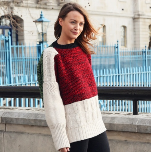 COLOR-BLOCK-SWEATER-CABLE-KNIT-STREET-STYLE-FASHION-WEEK-2012-GRAZIA-ITLAIA-LONDON