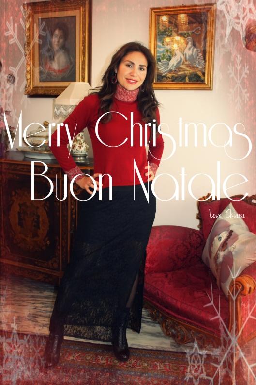 Merry Christmas, black, lace, maxi skirt,