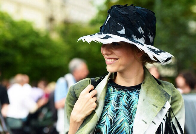 hat, feathers, trend