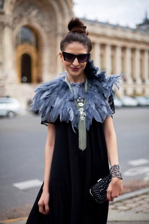 feathers, trend, street style