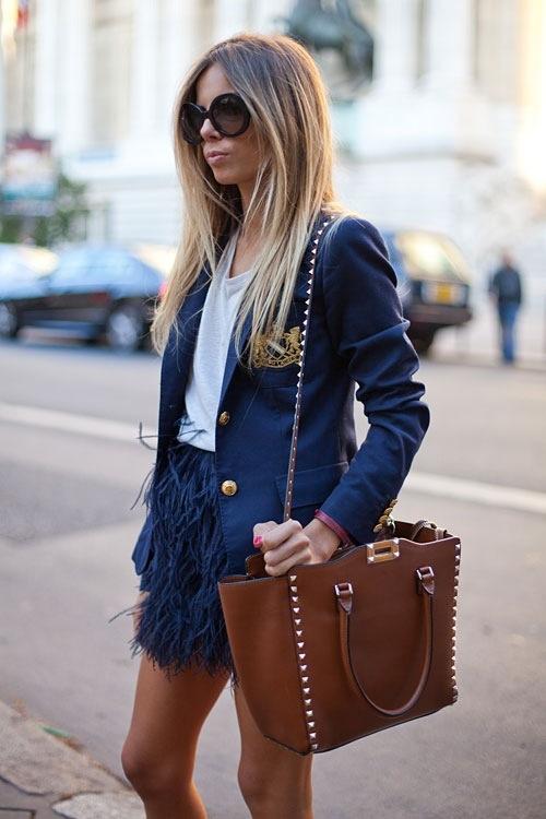 feathers, street style, skirt