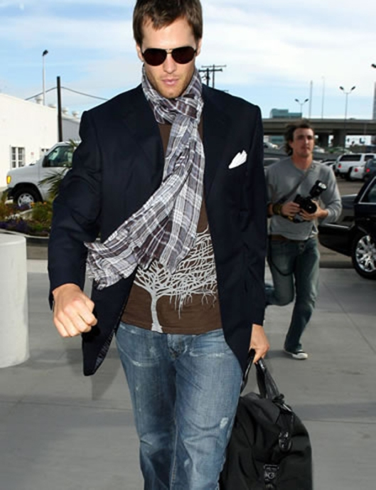 tom brady dapper gentleman outfit candid sunglasses
