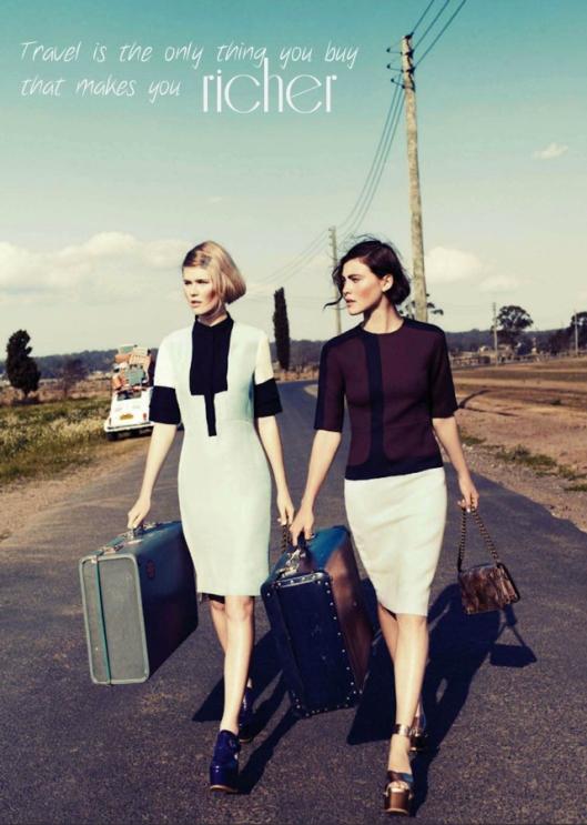 """;arie Claire dec 2012/ citazione-""""il viaggio è l'unica cosa che compri che ti rende più ricco"""""""