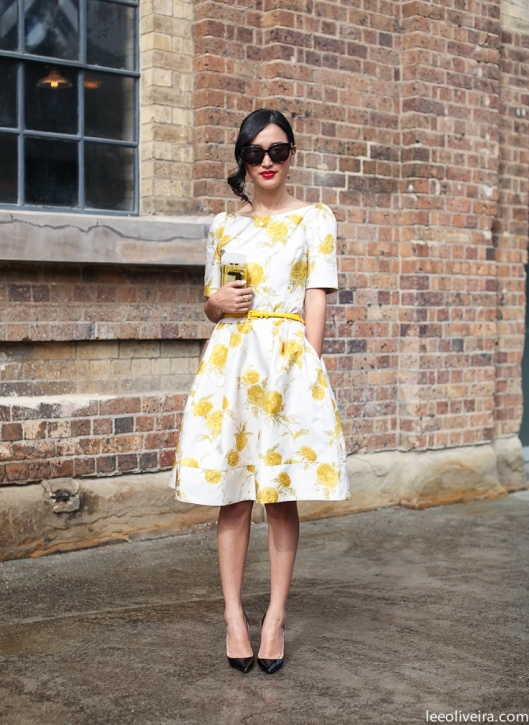 yellow-floral-dress-street-style