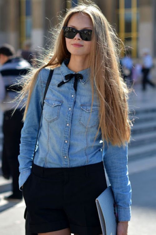 denim-fashion-trend-street-style-denim-shirt-black-bow-tie-006
