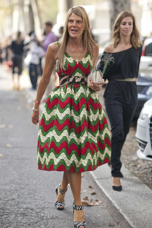 Anna-Dello-Russo-went-daytime-drama-printed-full-skirt