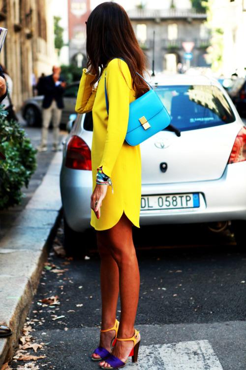 la modella mafia yellow blue street