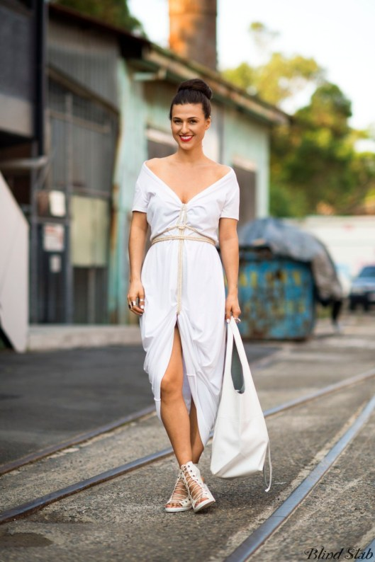 blind-stab-dana-suchow-all-white-dress-outfit-lace-up-heel-ankle-boots-2