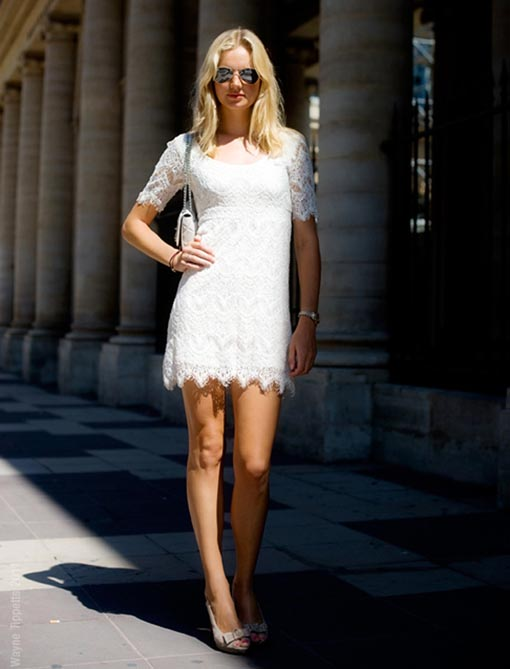 Street-Style-White-lace-dress