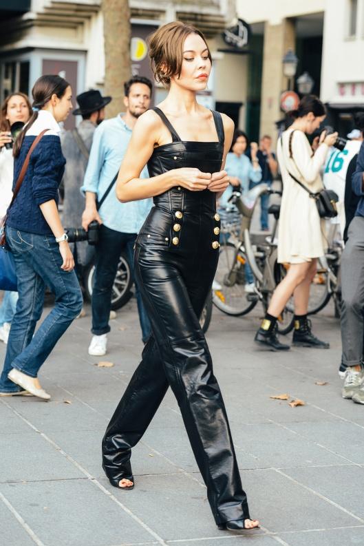 la-modella-mafia-2015-street-style-inspiration-Balmain-leather-overalls-by-Tommy-Ton